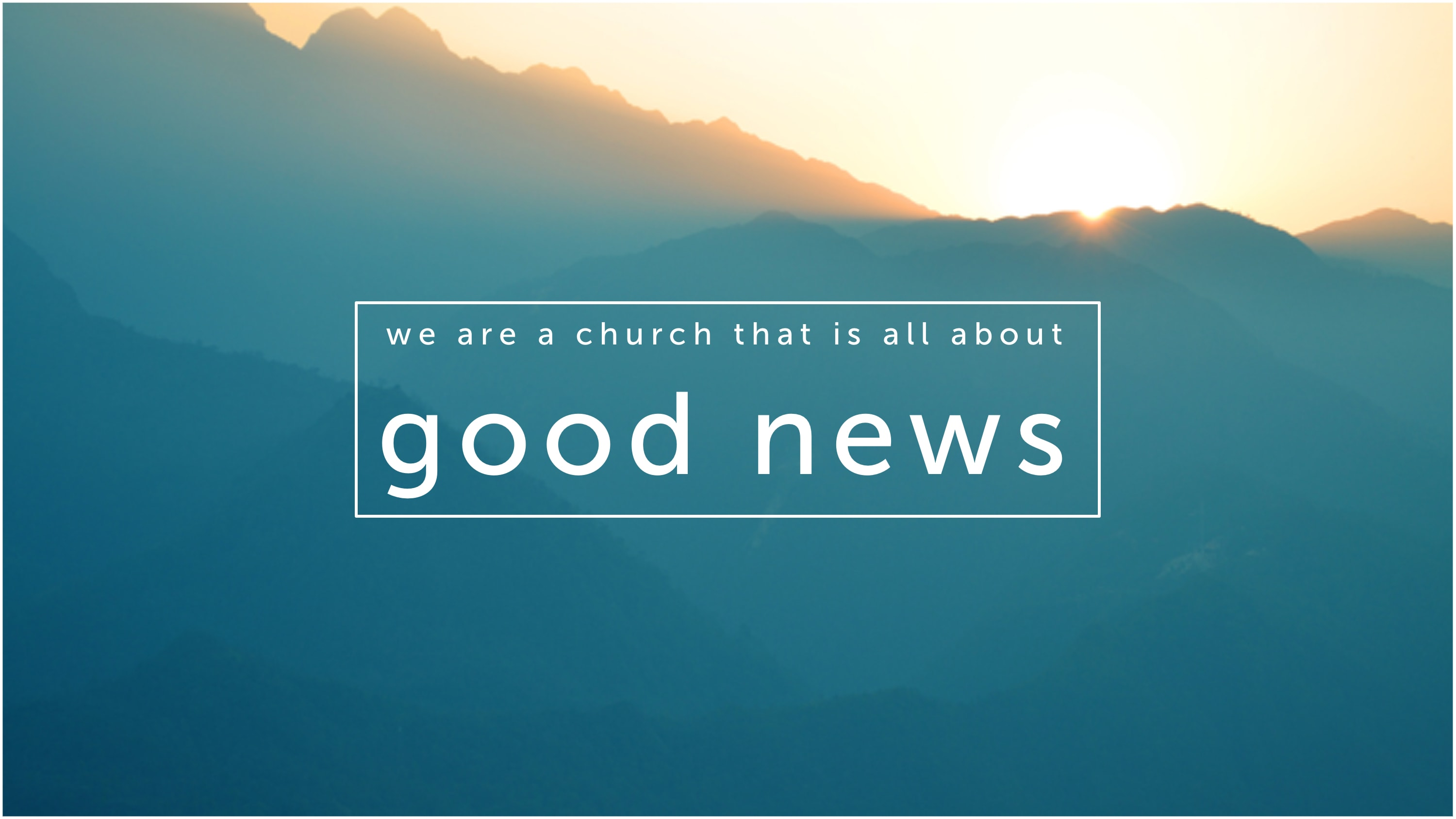 We Are All About Good News